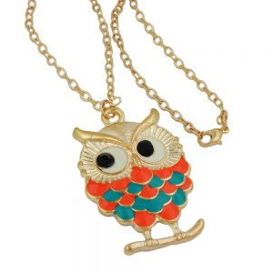 Collier hibou multicolore 01192xx