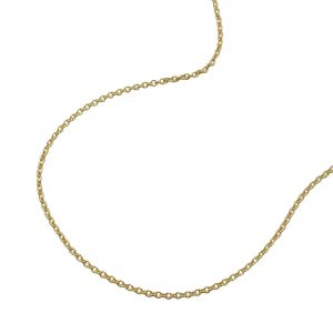 Collier mince chaine d ancre 38cm 9k or 511015 38xx