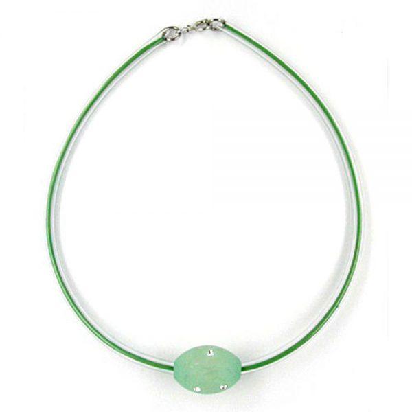 Collier olive menthe  transparent 04030xx