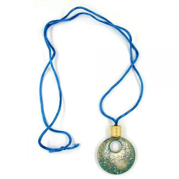 Collier pendentif bleu  transparent 06474xx
