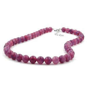 Collier perles 10mm lilas violet 60cm 01504 60xx