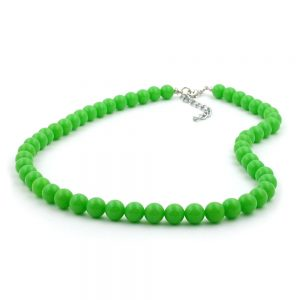 Collier perles 8mm vert brillant 40cm 01488 40xx