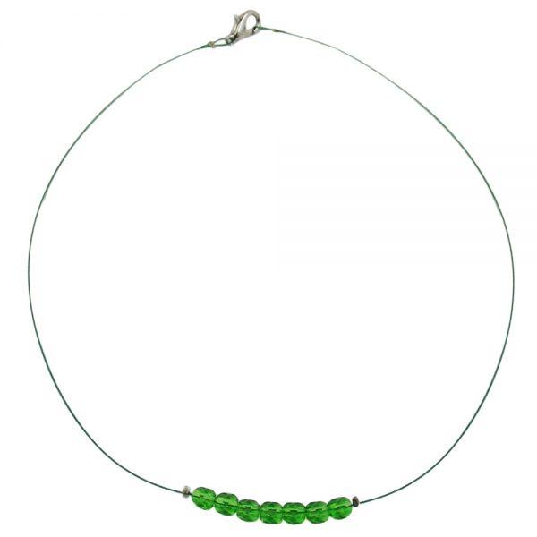 Collier perles chaine chaine 10mm rouge noir 50cm 06965xx