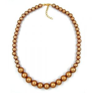 Collier perles champagne 04895xx