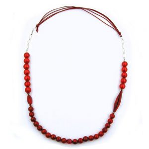 Collier perles framboise rouge couleurs soyeuses 00788xx