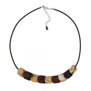 Collier perles marron 45cm 07653xx