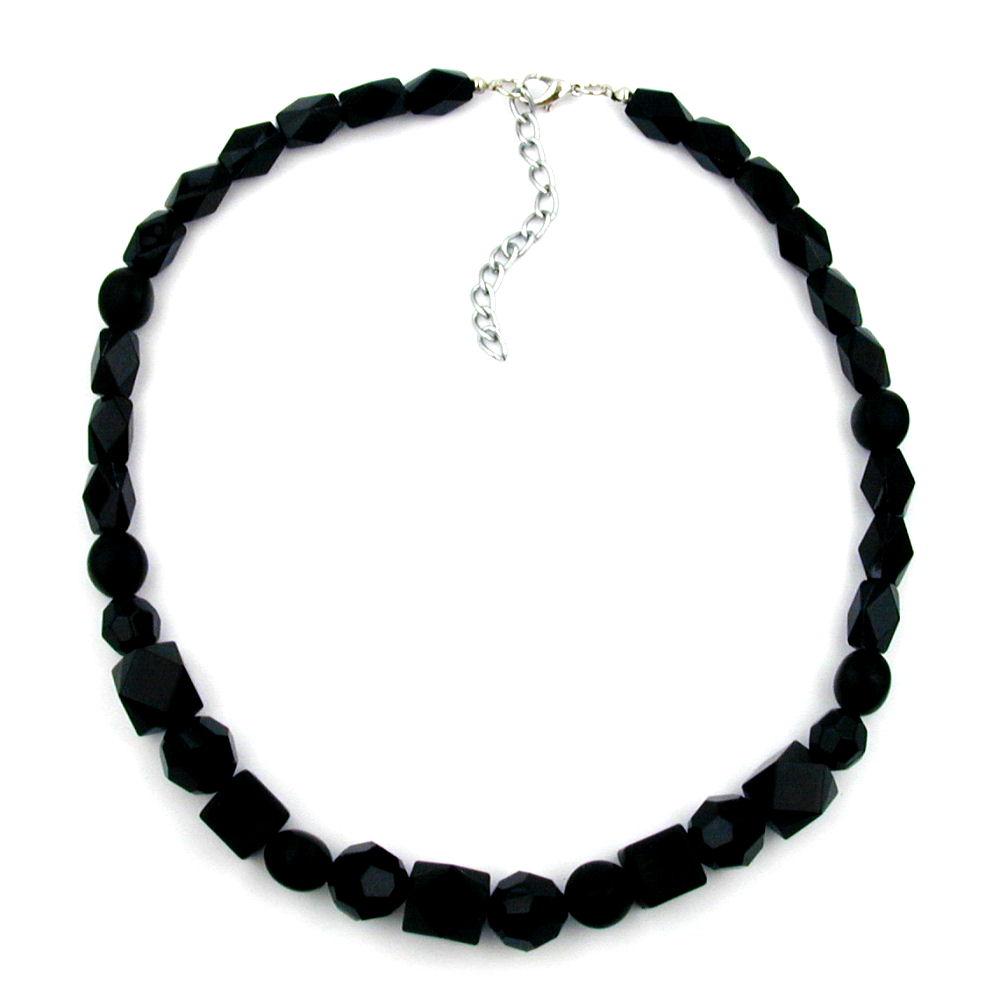 Facettes Et Différentes À Formes De Collier Perles Noires clFK1TJ