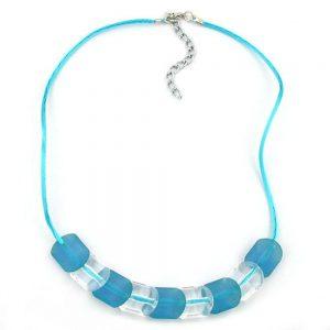 Collier perles turquoise 42cm 06448xx