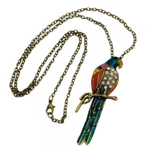 Collier perroquet multicolore 01194xx