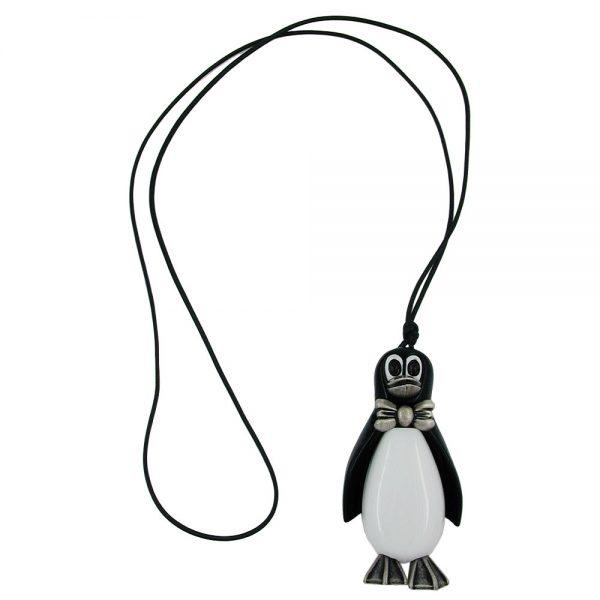 Collier pingouin antique argent 90cm 00239xx