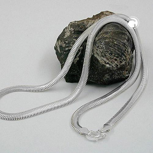 Collier plat serpent chaine argent 925 Krossin bijoux en argent 42cm 120002x