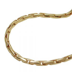 Collier rond chaine cobra plaque or 50cm 224000 50xx