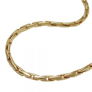 Collier rond chaine cobra plaque or 70cm 224001 70xx