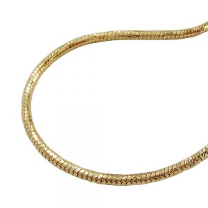 Collier rond serpent chaine plaque or 70cm 219007 70xx