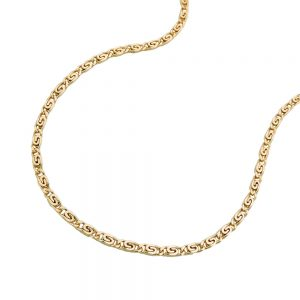 Collier s gourmette chaine 42cm or 14 carats 508003 42xx