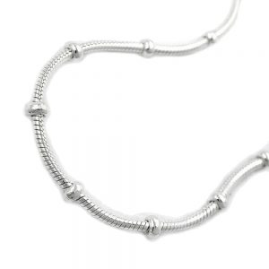 Collier serpent et chaine boule argent 925 Krossin bijoux en argent 45cm 119007 45xx