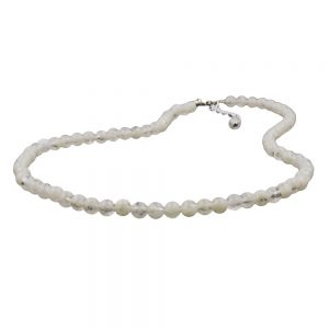 Collier seulement perles creme transparent 01008xx