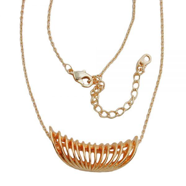Collier spirale pendentif couleur cuivre 01203xx