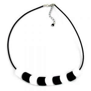 Collier tilt perle noir blanc 45cm 04925xx