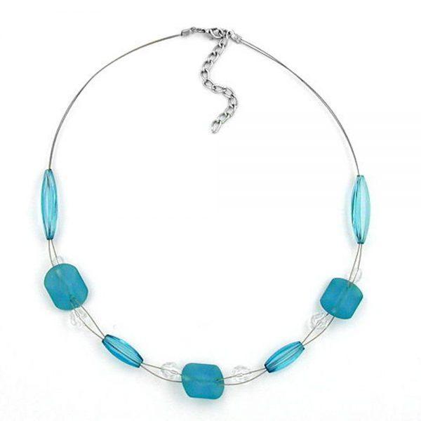 Collier turquoise perles 45cm 00490xx