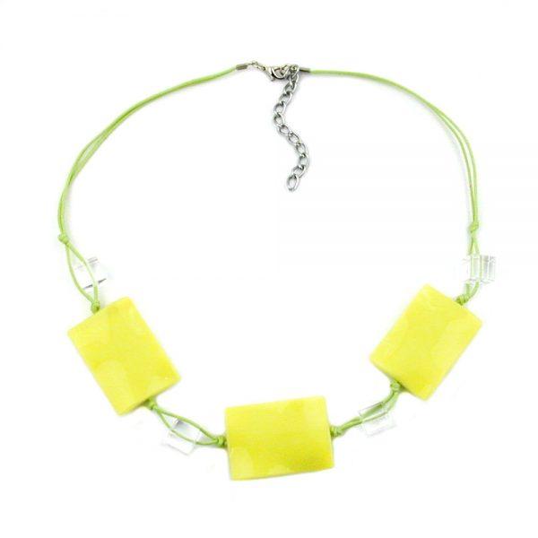 Collier vert clair oreiller perles 00256xx