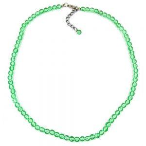 Collier vert perles 6mm 02057xx