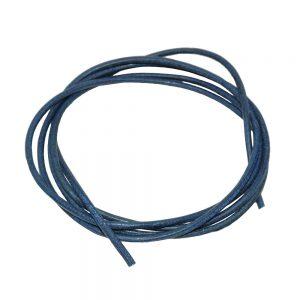 Cordon en cuir bleu fonce 2mm 100cm 00641xx