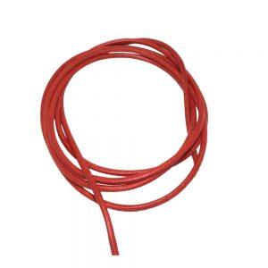 Cordon en cuir rouge 2mm 100cm 00643xx
