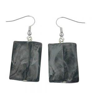 Crochet boucles doreilles oreiller perle noir gris 00675xx