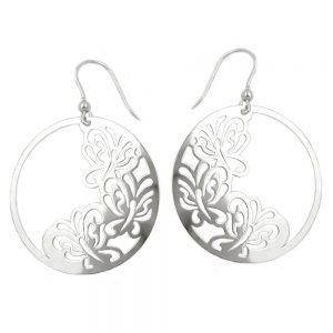 Crochet boucles oreilles papillon argent 925 Krossin bijoux en argent 93317xx