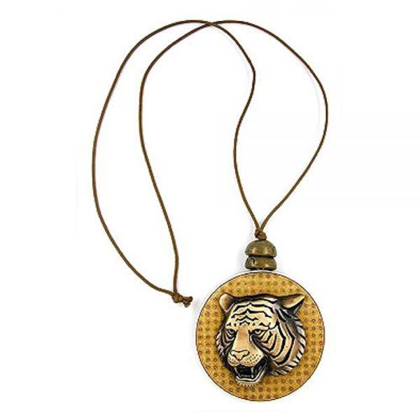 Disque de collier avec tete de tigre 00557xx
