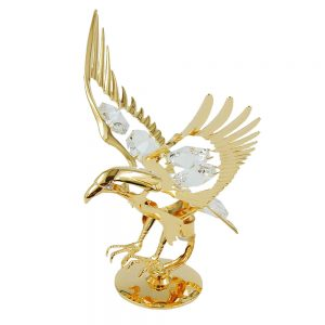 Eagle avec des elements en cristal plaque or 70171xx