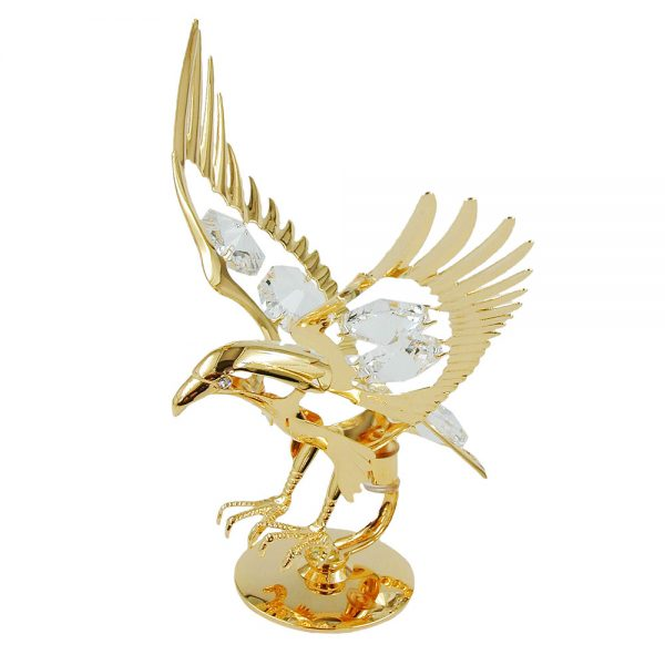 Eagle avec des elements en cristal plaque or 70171xx