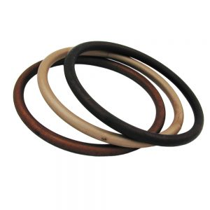 Ensemble de 3 bracelets marron mat 01166xx