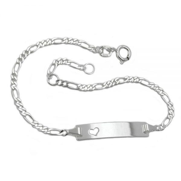 Id bracelet chaîne figaro argent 925 Krossin bijoux en argent 133631 16xx