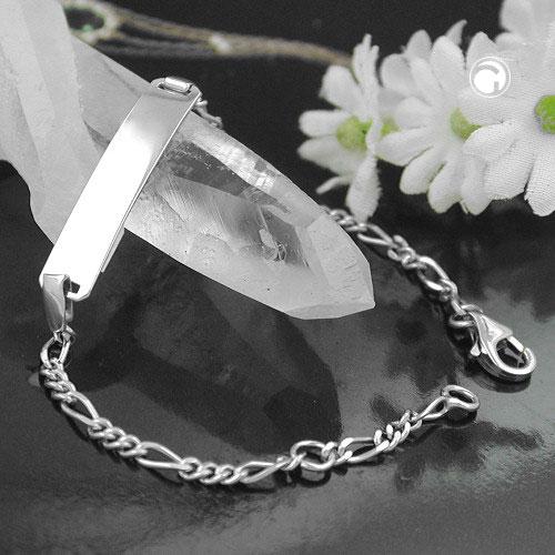 Id bracelet chaine figaro argent 925 Krossin bijoux en argent 110028x