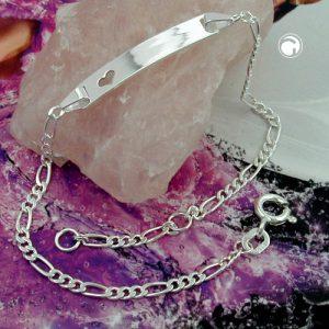Id bracelet chaine figaro argent 925 Krossin bijoux en argent 133631x