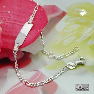 Id bracelet chaine figaro argent 925 Krossin bijoux en argent 135002x