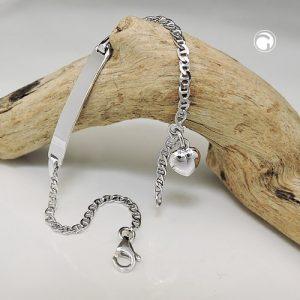 Id bracelet gourmette chaine argent 925 Krossin bijoux en argent 135105 14x