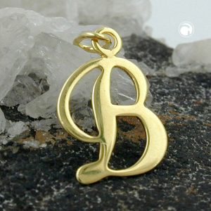 Lettre pendentif b or 8k Krossin bijoux or 431089x