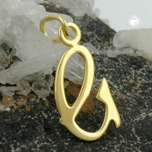 Lettre pendentif en or 8k Krossin bijoux or 431094x