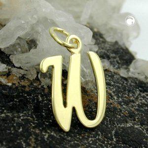 Lettre pendentif en or 8k Krossin bijoux or 431109x