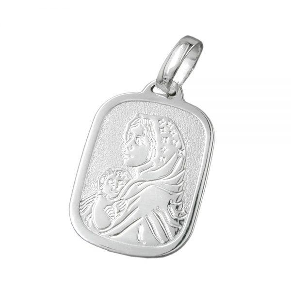 Medaille religieuse mere Mary Argent 925 Krossin bijoux en argent 92406xx