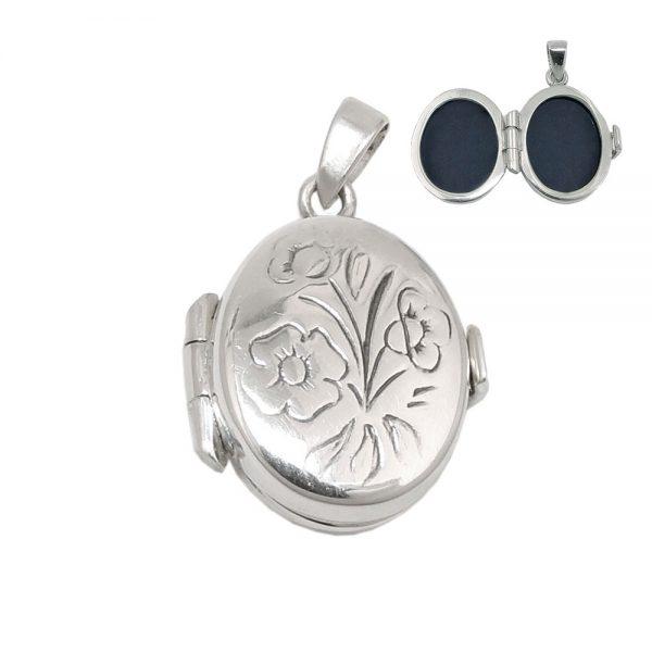 Medaillon floral design argent 925 Krossin bijoux en argent 93541xx