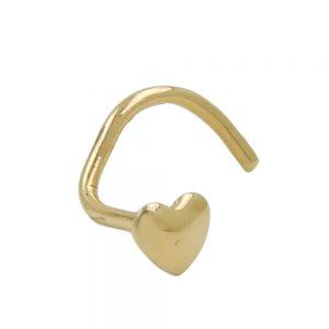 Nez piercing coeur en or 18 carats 430100xx