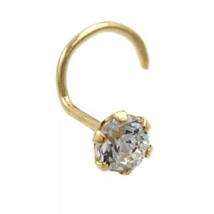 Nez vis zircon 3mm or 18 carats 430030xx