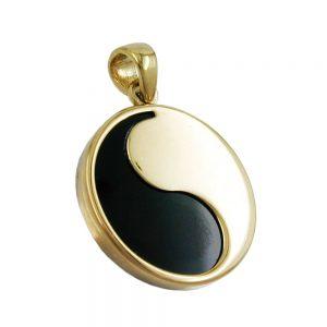 Pendentif 15mm yin yang onyx 9k or 430775xx