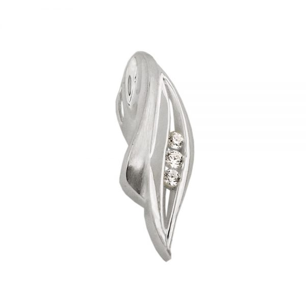 Pendentif 3x zircon argent 925 Krossin bijoux en argent 93493xx