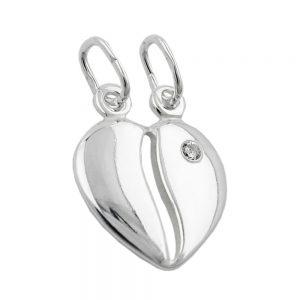 Pendentif Amitie coeur separable argent 925 Krossin bijoux en argent 91508xx