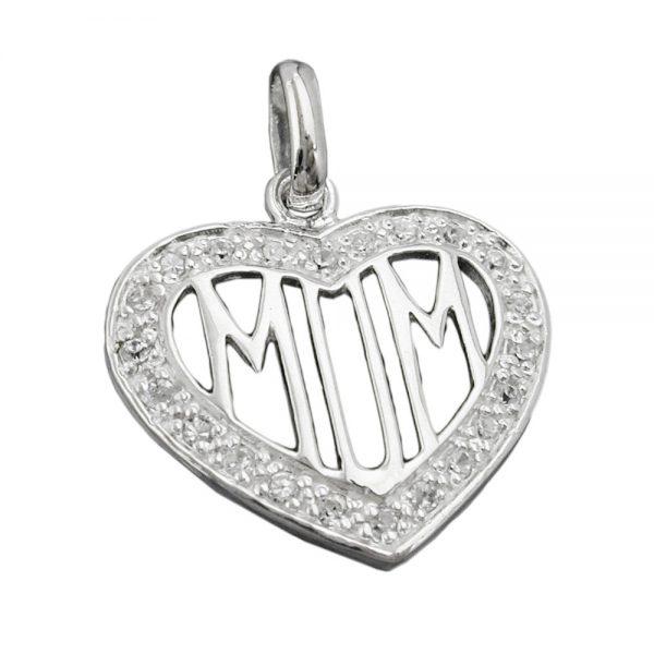 Pendentif Zircon coeur maman argent 925 Krossin bijoux en argent 92647xx